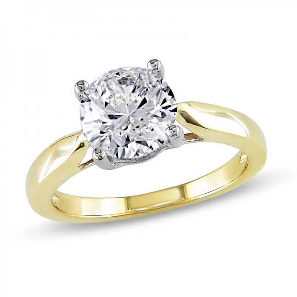 2 CT. Diamond Solitaire Engagement Ring in 14K Gold