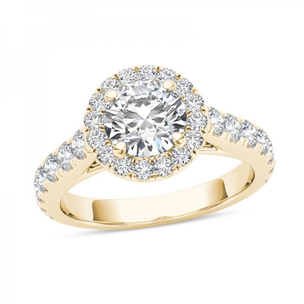 1-1/2 CT. T.W. Diamond Frame Engagement Ring in 14K Gold