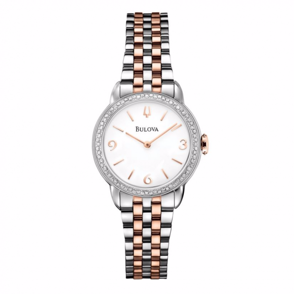 Bulova Diamond Gallery ladies' two colour bracelet watch