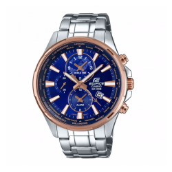 Casio Edifice Men's Blue Dial Stainless Steel Bracelet Watch
