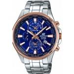 Casio Edifice Men's Blue Dial Stainless Steel Bracelet Watch