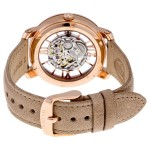 Curiosity Automatic Skeleton Dial Beige Leather Ladies Watch
