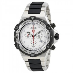 Conger White Dial Men's Two Tone Chronograph Watch