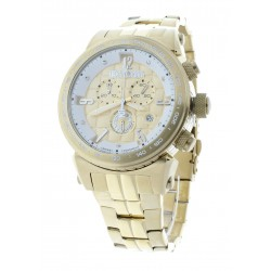 Men's Gold-Tone Stainless Steel Swiss Chronograph Watch